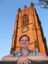Emily Keane, outside All Saints Church, Driffield