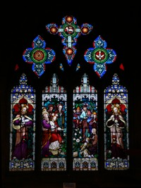 A stained glass window at All Saints Church, Driffield